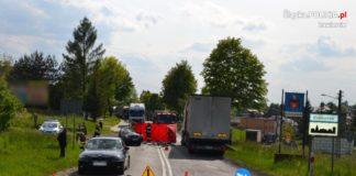 Śmiertelny wypadek na DK78 - fot. KPP w Zawierciu