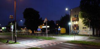 Sosnowieckie przejście dla pieszych z dodatkowym oświetleniem – fot. Damian Żurawski