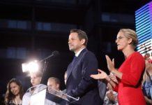 Rafał Trzaskowski na wieczorze wyborczym – fot. Rafał Trzaskowski/Facebook