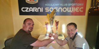 Sebastian Stemplewski pozostaje trenerem Czarnych Sosnowiec – fot. Czarni Sosnowiec