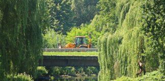 Trwa wzmacnianie konstrukcji mostów - fot. UM Sosnowiec