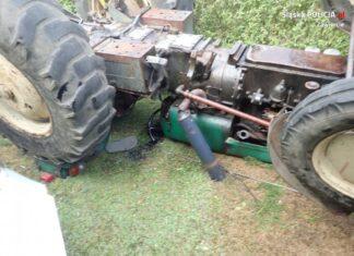 Nie żyje mężczyzna przygnieciony przez ciągnik rolniczy - fot. KPP w Zawierciu