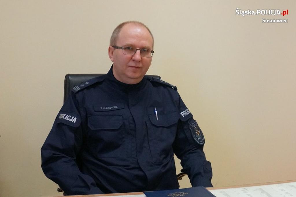 Mł. insp. Tomasz Kłosowicz komendantem sosnowieckiej policji – fot. KMP Sosnowiec