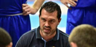 Trener MKS-u Dąbrowa Górnicza Alessandro Magro - fot. Dorota Murska