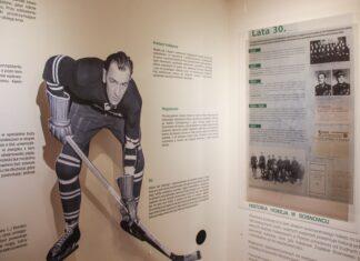 """Wystawa """"Historia hokeja w Sosnowcu"""" - fot. Zamek Sielecki"""