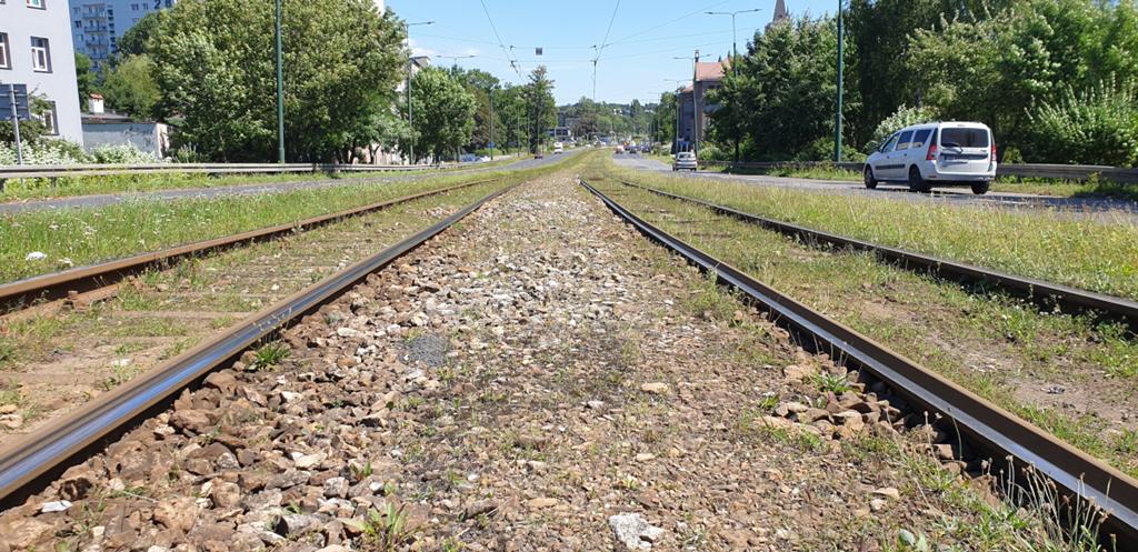 Torowisko przy 1 Maja w Sosnowcu – fot. UM Sosnowiec