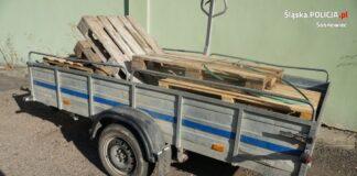 Kradzież na placu budowy przy Egzotarium – fot. Policja Sosnowiec